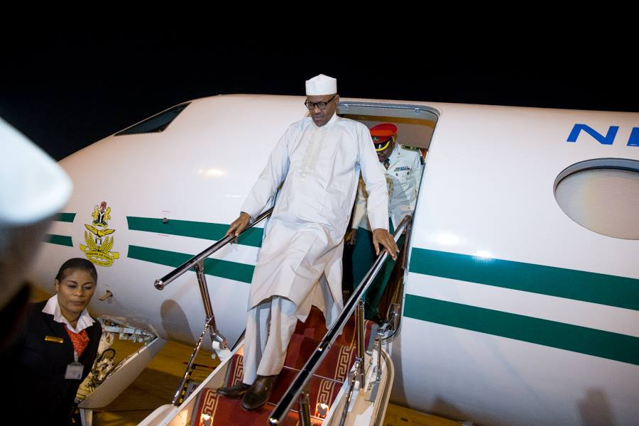 Buhari in UAE 1
