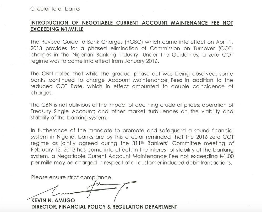CBN Circular Current