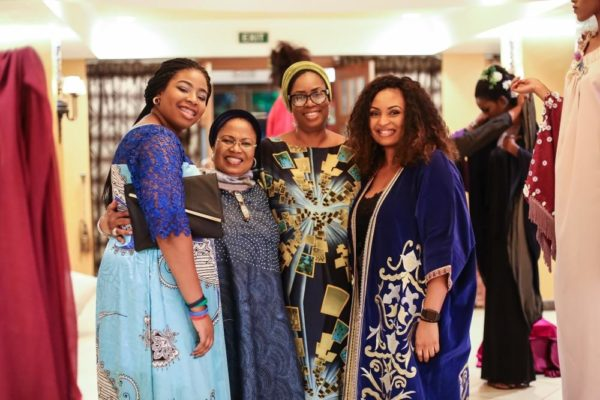 Feyi Adeyinka Oni with Hajia Aisha, Modupe Oni and Salihat