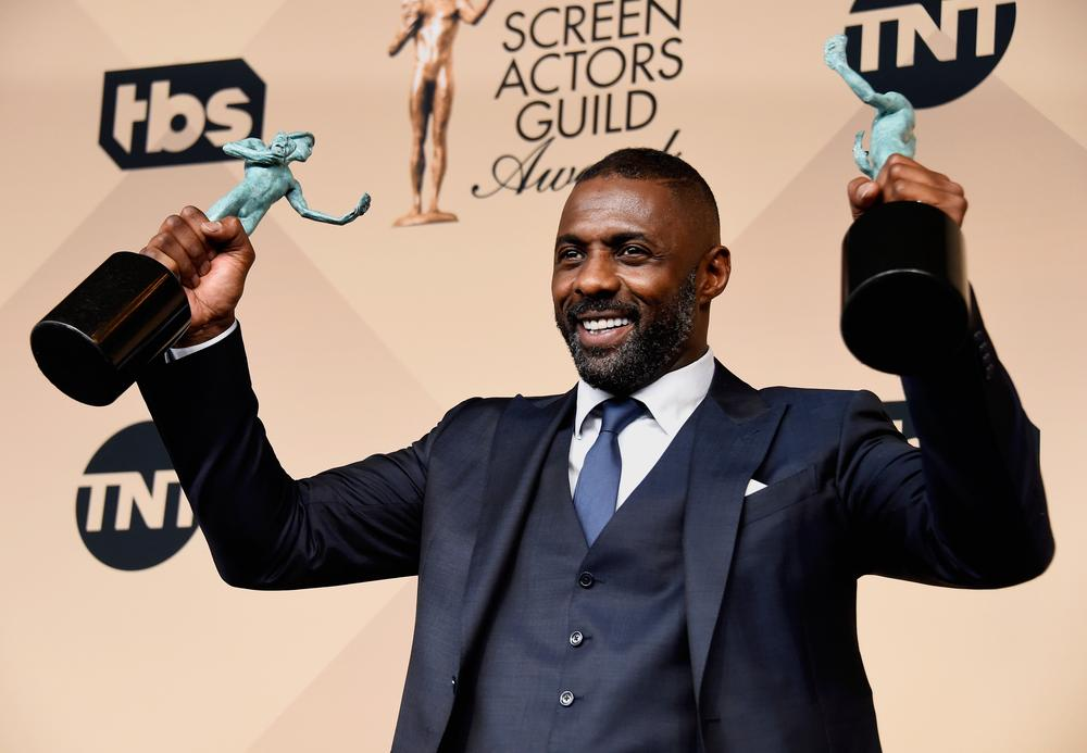 poses in the press room during the 22nd Annual Screen Actors Guild Awards at The Shrine Auditorium on January 30, 2016 in Los Angeles, California.