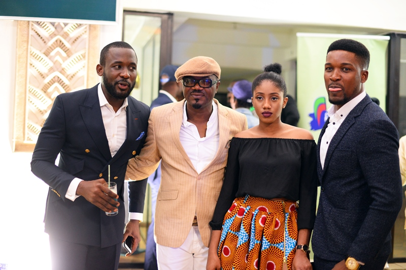 Joseph Benjamin, DJ Jimmy Jatt _ his daughter, Oyinda Wole Ojo
