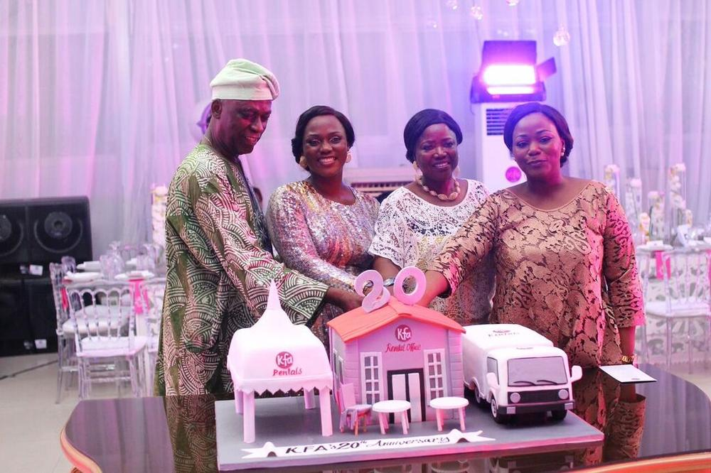 Ayo Ajayi (Chairman KFA), Kemi Adeleke, Mrs Bose Ajayi (Vice Chairman) & Femi Adekoya (Executive Director)