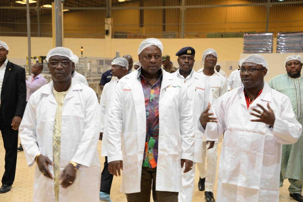 Kasapreko Ghana Factory Launch with President Mahama57