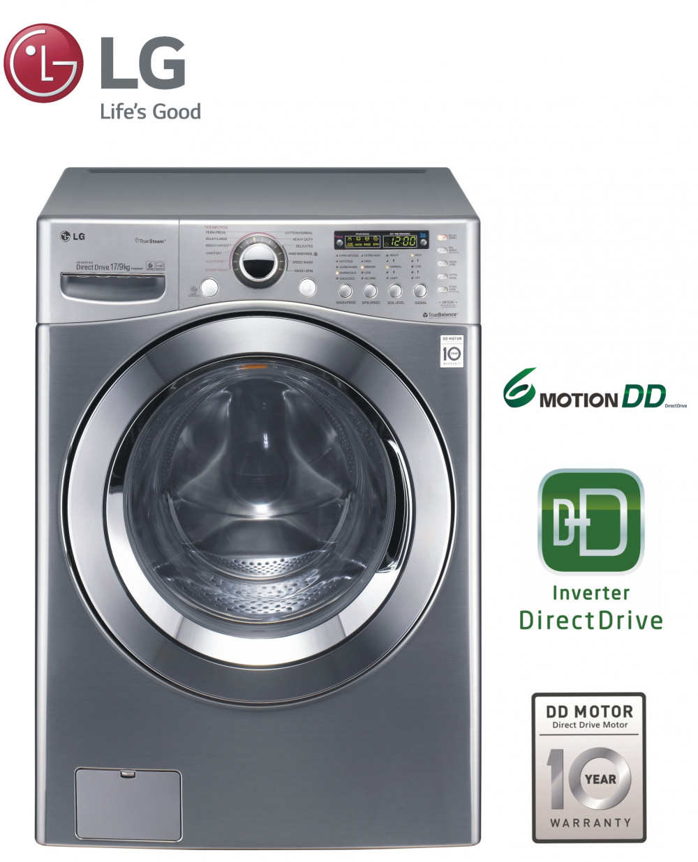 Lg electronics 39 innovative new home appliances are just for Lg direct drive motor
