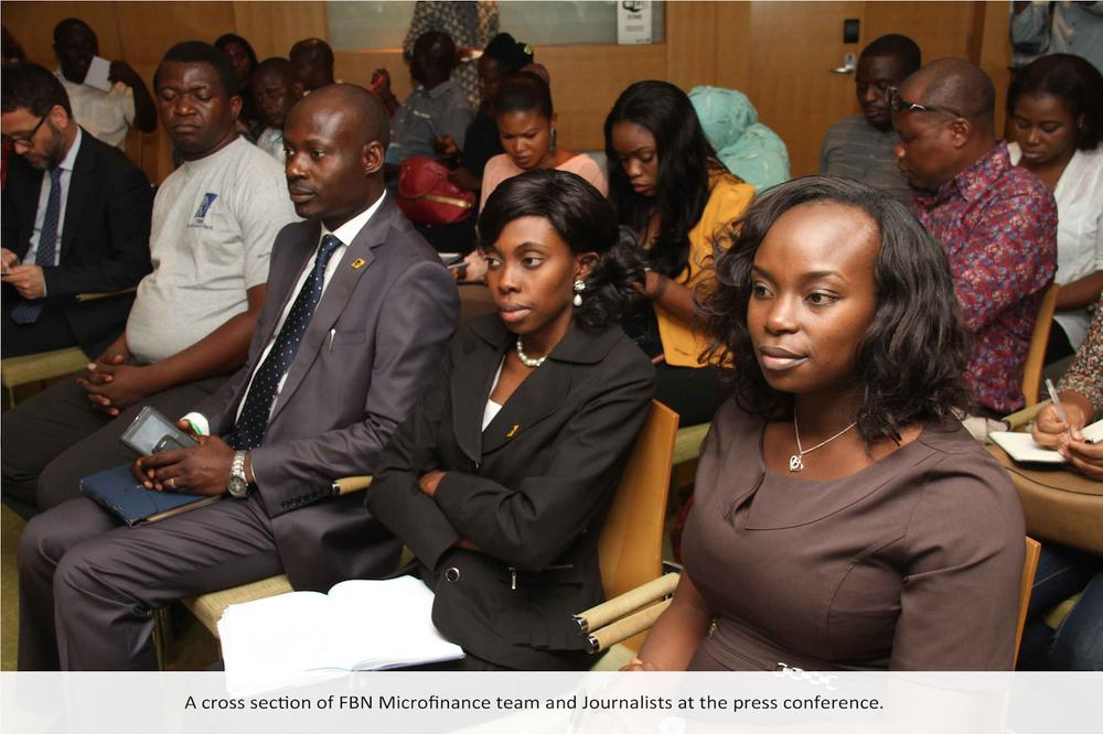 A cross section of FBN team and journalist at the press conference
