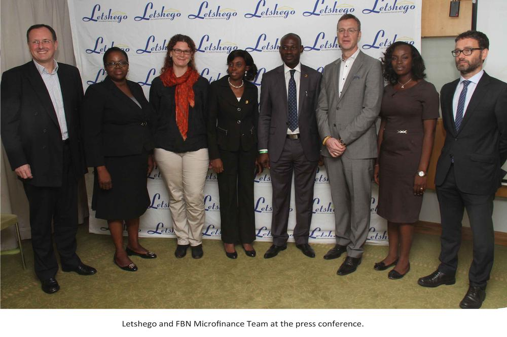 Letshego and FBN Micro finance team at the press conference.