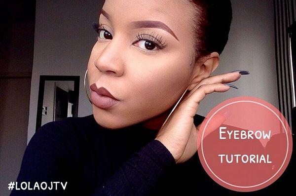 Lola OJ Eyebrow Tutorial - BellaNaija - January 2016