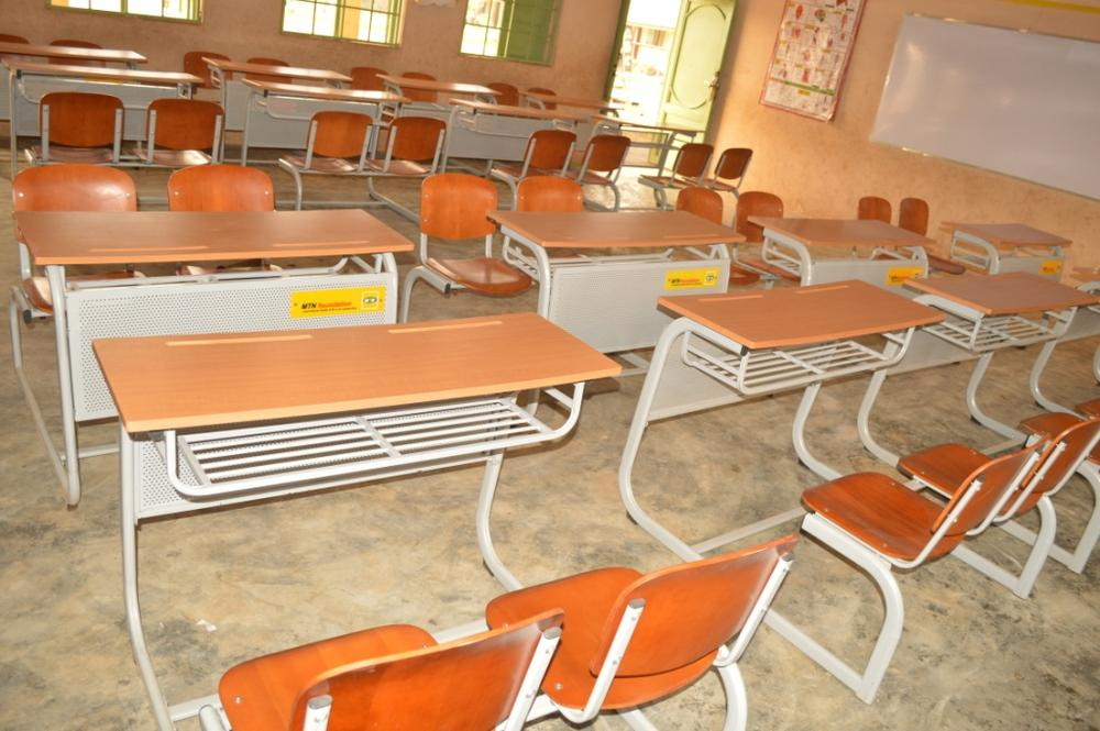 Classroom Furniture In Nigeria ~ Mtn foundation donates furniture to community primary