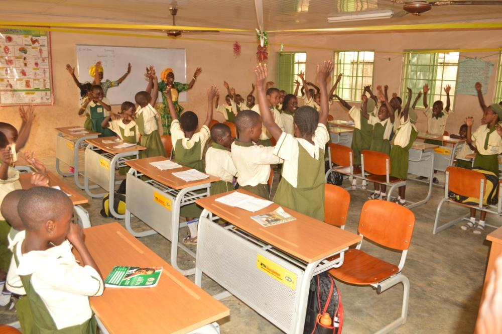 Classroom Furniture In Nigeria : Mtn foundation donates furniture to community primary