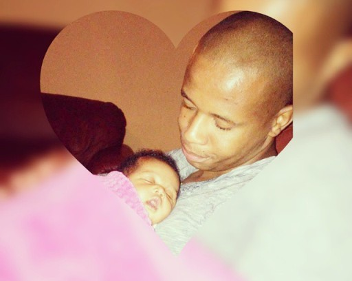Penuel Mnguni and baby Angela