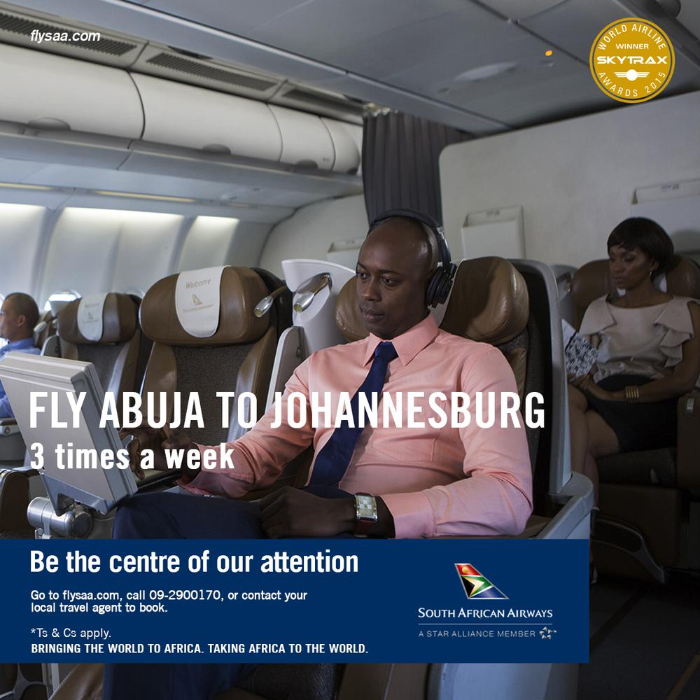 SAA Abuja Joburg