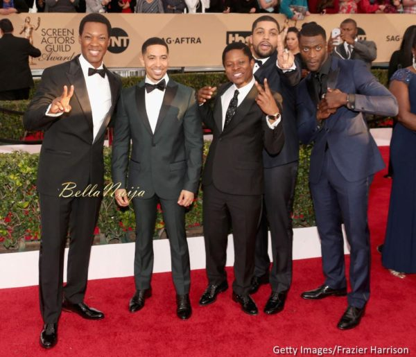 Corey Hawkins, Neil Brown Jr., Jason Mitchell, O'Shea Jackson, and Aldis Hodge