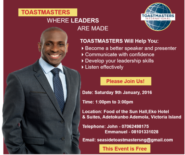 Seaside Toastmasters 1st meeting in 2016