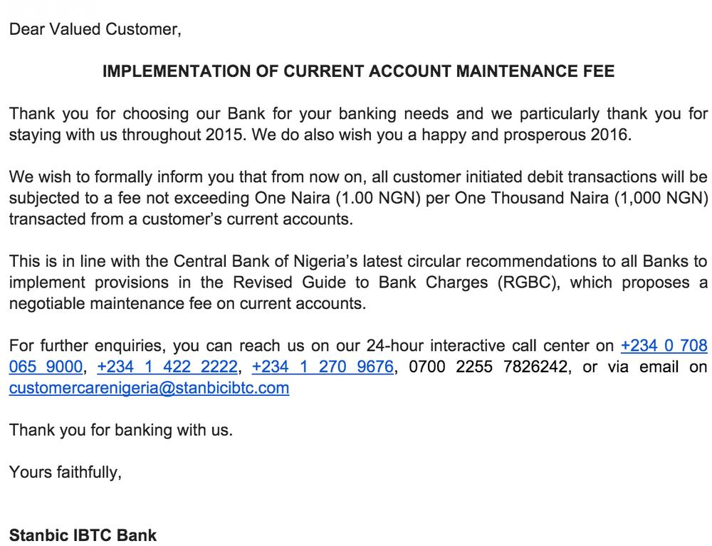 Stanbic Current Account