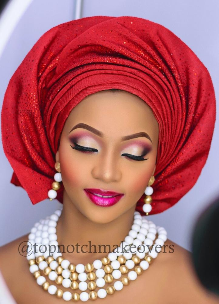 Bn Bridal Beauty Gele With A Twist Amp Bold Bridal Looks