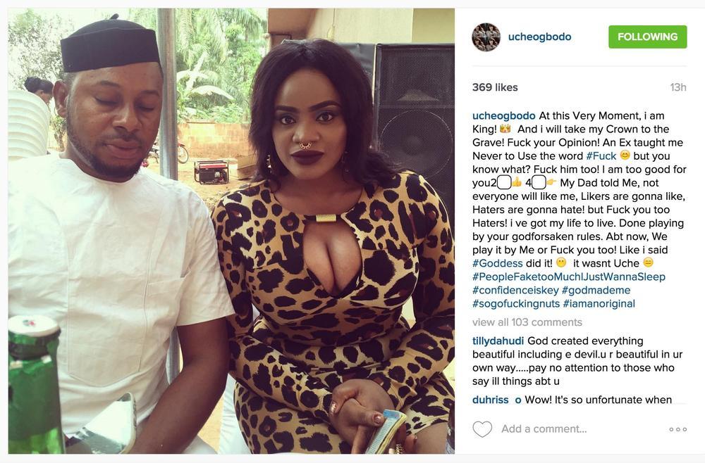Uche Ogbodo Instagram rant copy