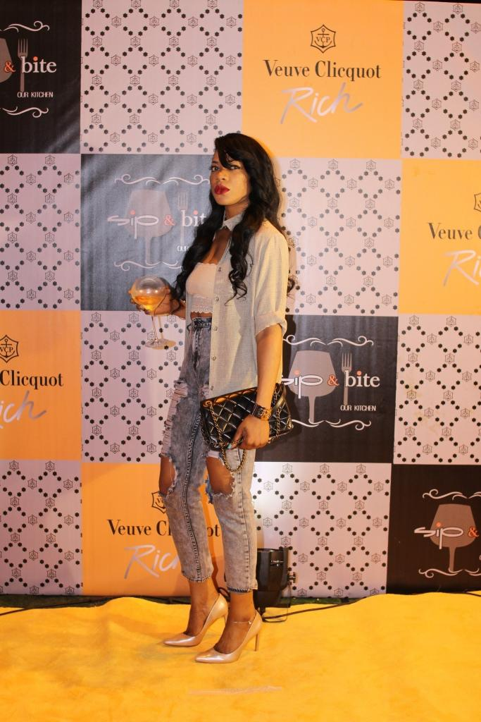 Yvonne Nwosu at the Veuve Clicquot Rich launch.