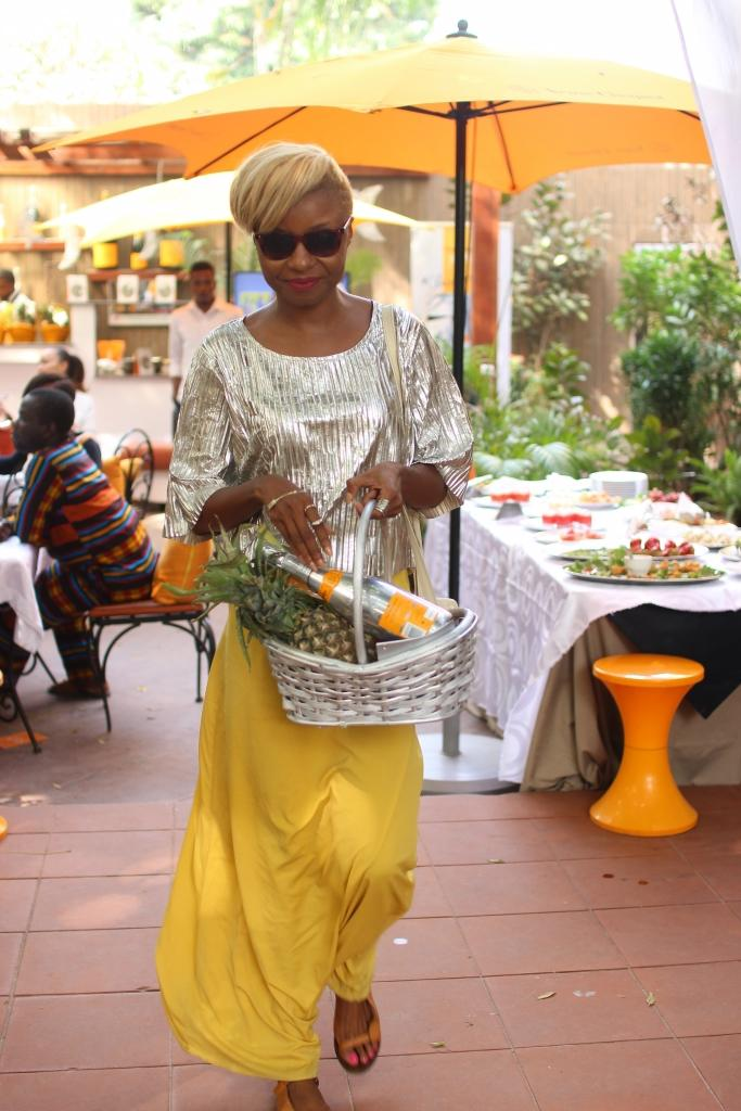 Uber talented designer Ngozi Zed-eye, Creative Head, Zed Eye at the Veuve Clicquot Rich Private Tasting at Villa Medici