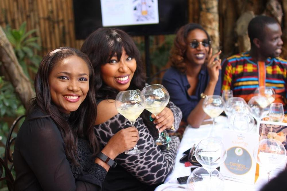 Onah Nwachukwu, Latash Ngwube, Hauwa Mukan and Osi Dirisu during the Vueve Clicquot Rich Private Tasting at Villa Medici