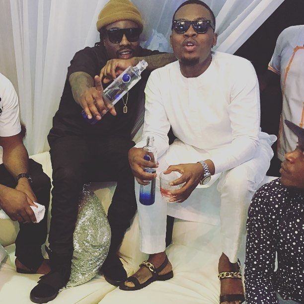 Wale and Olamide at Toolz and Tunde Wedding 2