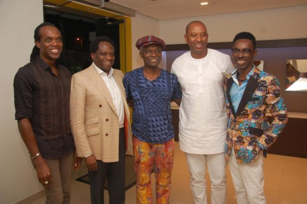 1 Anselm Tabansi (white) with guests including Veteran designer Jimi King, Ovo, Andy