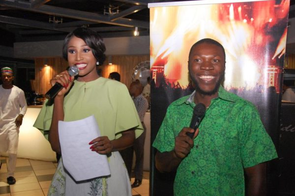 7 Anchor host Miss Nigeria Lessi Peter Vigboro with Kessiena Eboh
