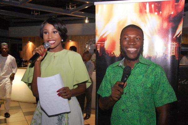 7 Anchor host Miss Nigeria Lessi Peter Vigboro with Kessiena Eboh