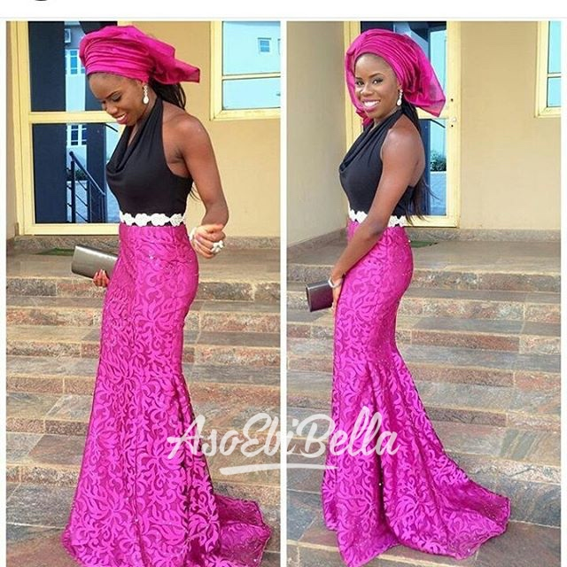 @missedara in @dlvclothing, aso ebi by @asoebi_geek