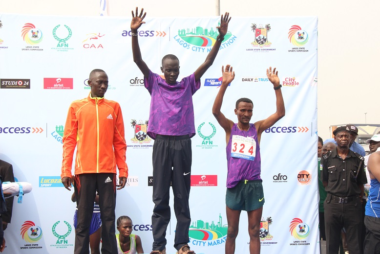 Abraham Kipton(Kenya) 1st Kipkemboi Hosea (Kenya) 2nd and Debebe Tolosa (Kenya) 3rd