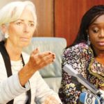 Finance Minister Kemi Adeosun with IMF's Christine Lagarde during her visit to Nigeria