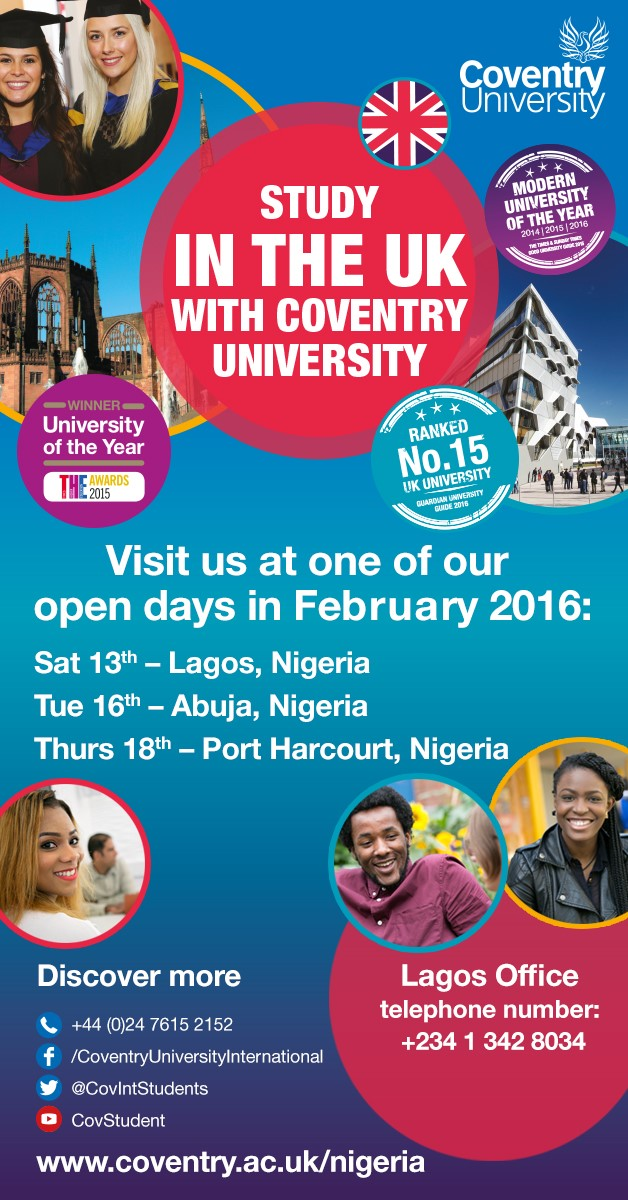 Coventry University Nigeria - Feb 2016