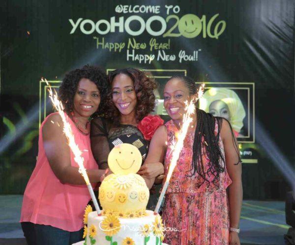 Dayo Benjamins-Laniyi flanked by Ayodeji and Ijeoma