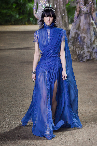 PARIS, FRANCE - JANUARY 27: A model walks the runway during the Elie Saab Spring Summer 2016 show as part of Paris Fashion Week on January 27, 2016 in Paris, France. (Photo by Peter White/Getty Images)