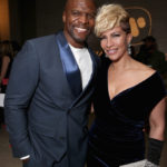 LOS ANGELES, CA - FEBRUARY 15:  Actor Terry Crews (L) and Rebecca King-Crews attend Warner Music Groups' annual Grammy celebration at Milk Studios Los Angeles on February 15, 2016 in Los Angeles, California.  (Photo by Todd Williamson/Getty Images for Warner Music Group)