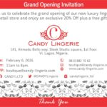 Grand Opening Candy Lingerie