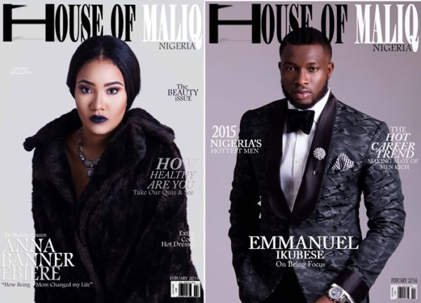 HouseOfMaliq-Magazine-Cover-2016-Anna-Banner-Ebiere-And Emmanuel-Ikubese-Febuary-Edition-Ex-Beauty-Queen-Mr-Nigeria-Fashion-Editorial