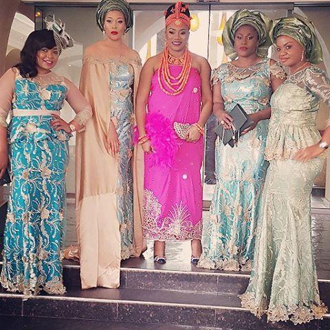 The bride and her #AsoEbiBella squad