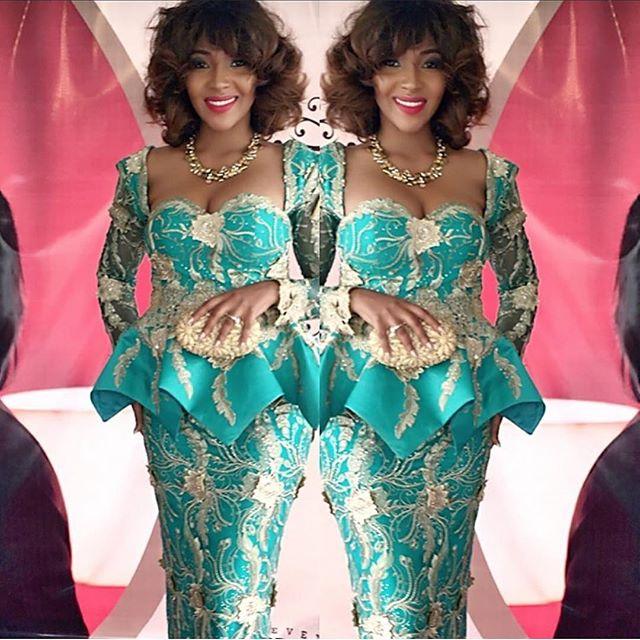 Lilian Esoro at Julie Odia and Friday Akpata's Wedding_1