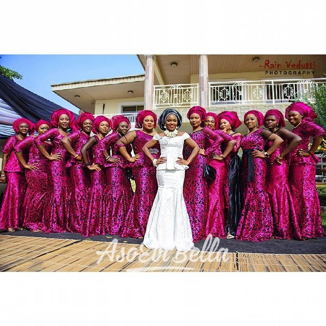 Maryam, aso ebi by @asoebi_geek, photo by @rainvedutti