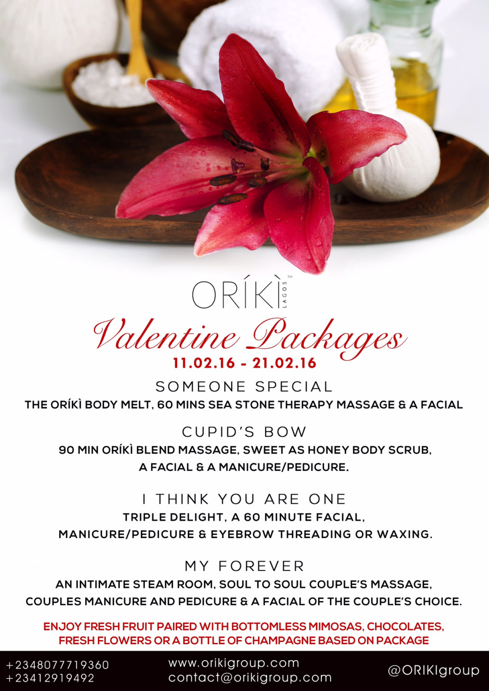ORIKI Spa Package
