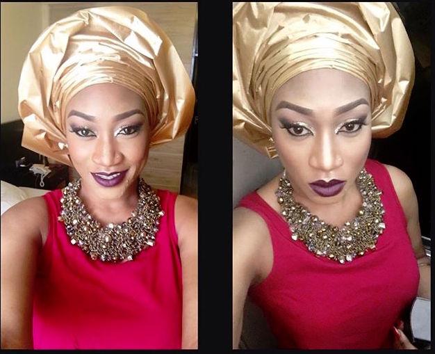Oge Okoye at Monalisa Chimda's Wedding