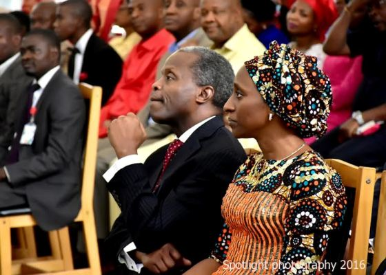 The Osinbajos on Valentine's Day at the Aso Rock Chapel
