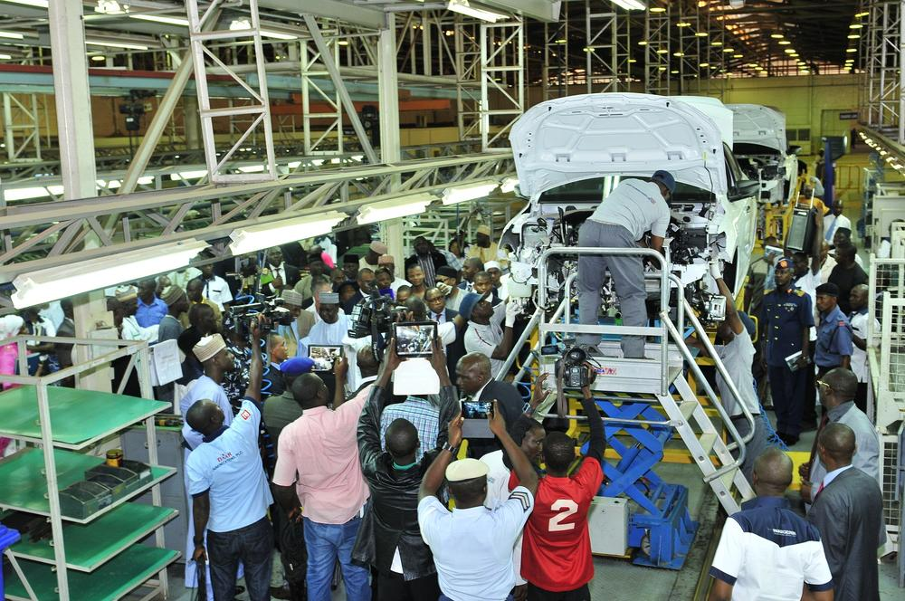 Peugeot Nigeria Assembly line at PAN Nigeria with Photo journalists