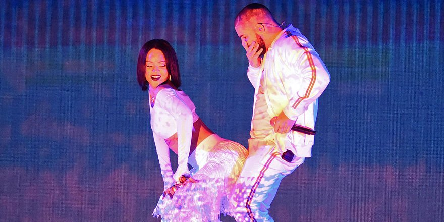 Rihanna and Drake_Work at BRITs