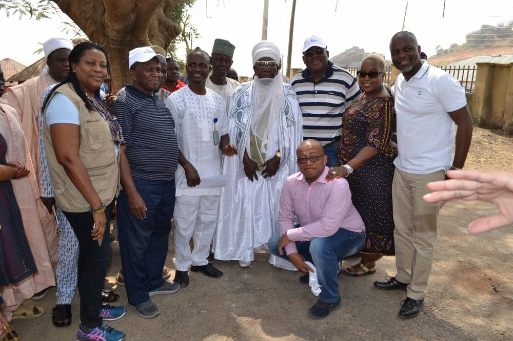 South Africa delegation with the Traditional Ruler of Ushafa Village