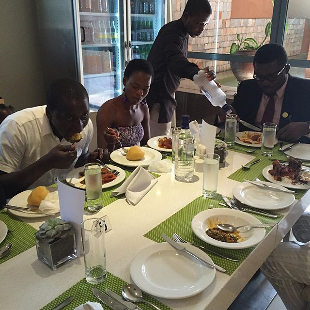 Having lunch at Wheat baker Hotel after - Azuka says Olajumoke asked for Ogbono Soup and Eba