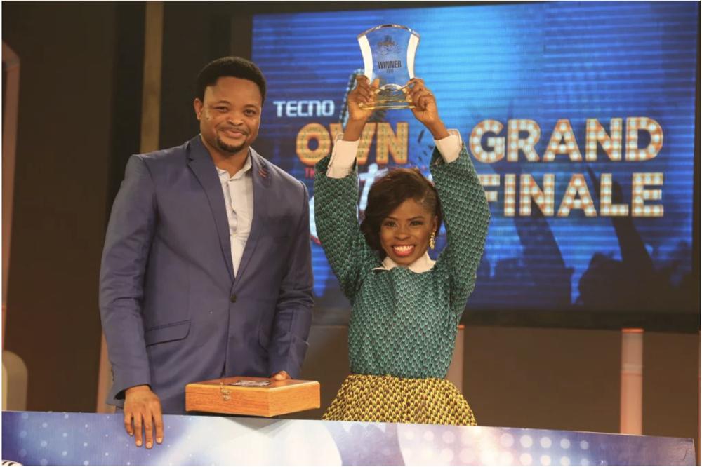 Attai Oguche Deputy Marketing Manager Tecno Mobile and Winner Shapeera from Nigeria