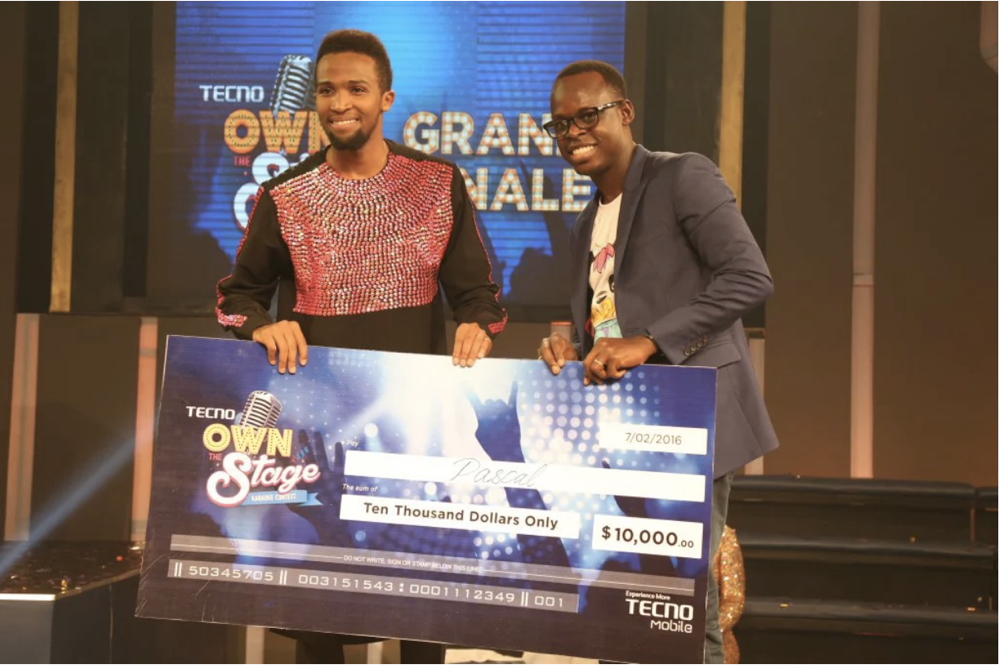 2nd Runner Up Pascal from Kenya and Jesse Oguntimehin (Brand manager)