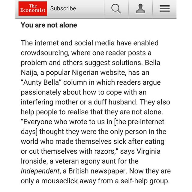 The Economist Aunty Bella