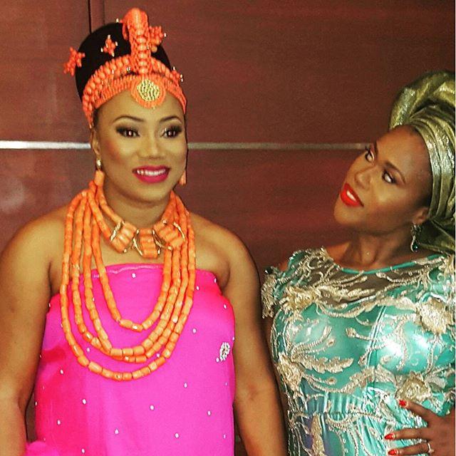 The bride and her bestie - Uche Jombo